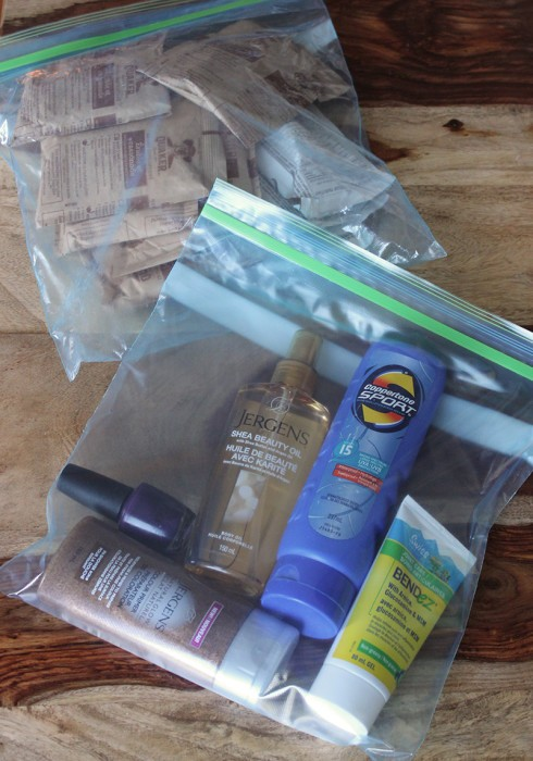 ziploc travel bags