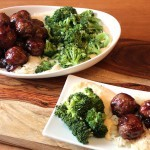 Cranberry Glazed Turkey Meatballs & Cauliflower Puree